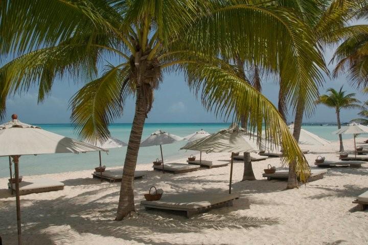 Beach at hotel Na Balam on Isla Mujeres
