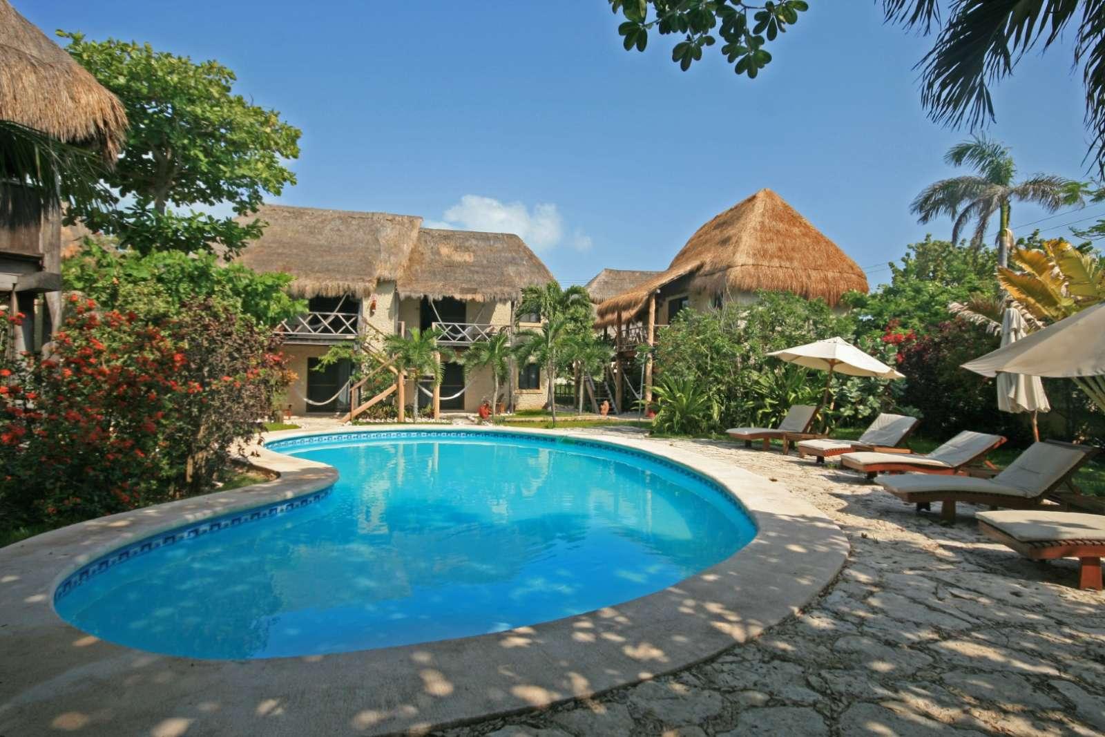 Pool at Na Balam on Isla Mujeres