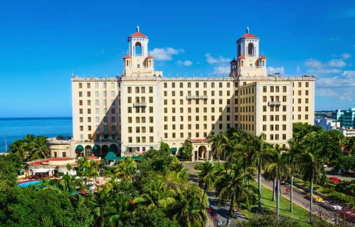 Aerial view of the Hotel Nacional in Havana, Cuba