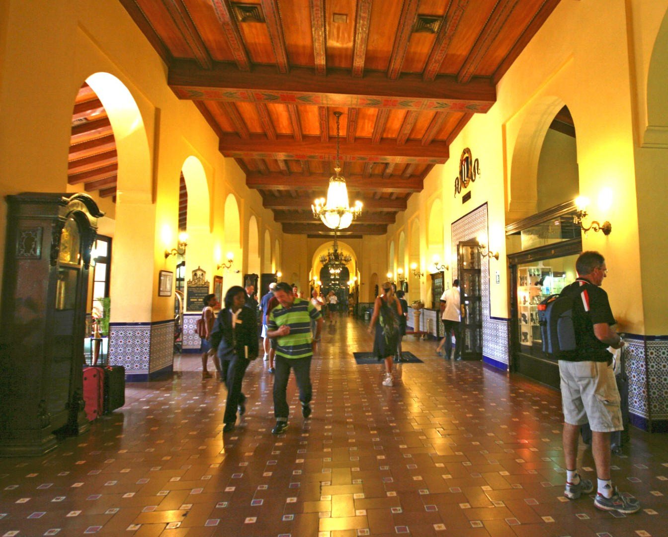 Lobby of the Hotel Nacional in Havana