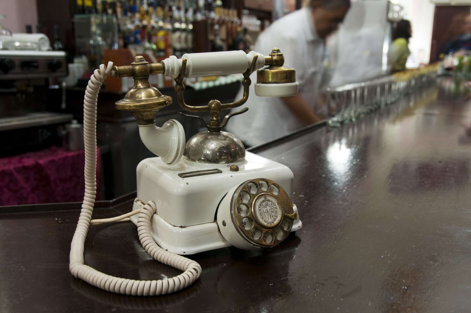 Vintage telephone in the bar at the Hotel Nacional in Havana