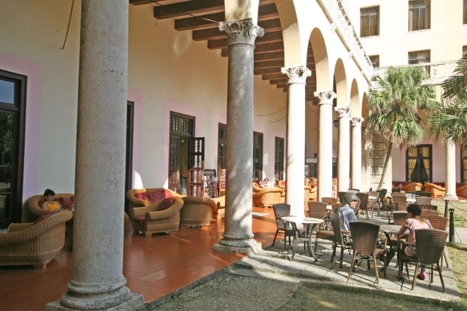 Terrace bar at the Hotel Nacional in Havana