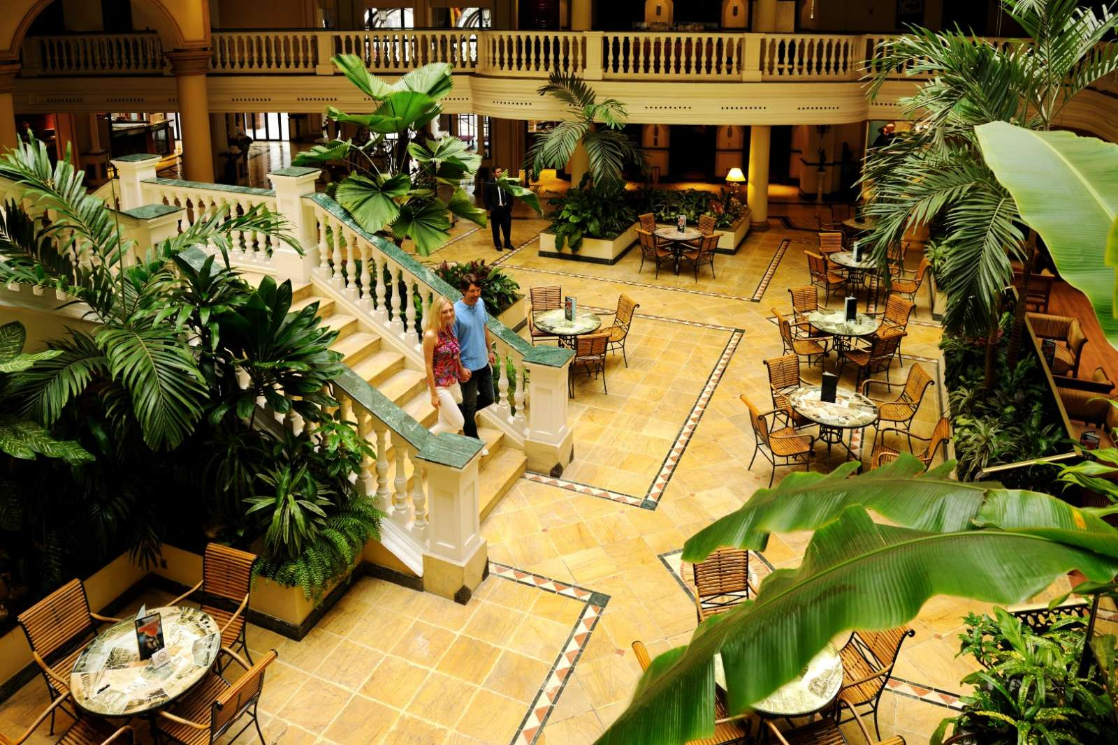 Lobby at the Parque Central hotel in Havana, Cuba