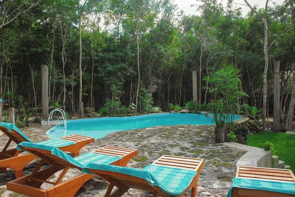 Swimming pool at Hotel Puerta Calakmul