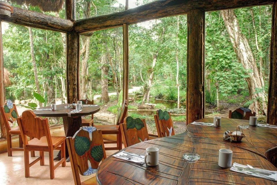 Restaurant at Hotel Puerta Calakmul