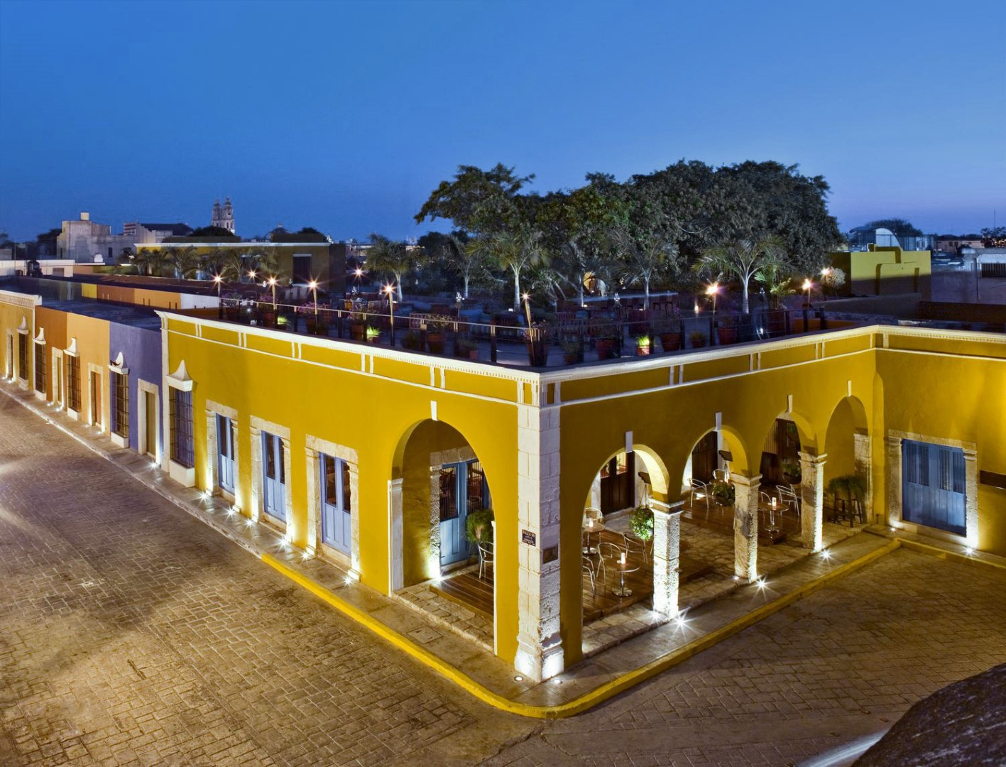 Aerial of Hotel Puerta Campeche