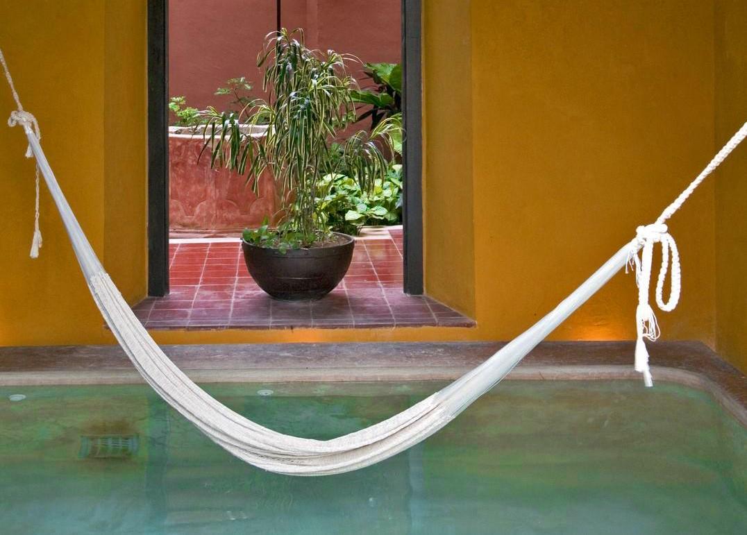 Hammock at Hotel Puerta Campeche