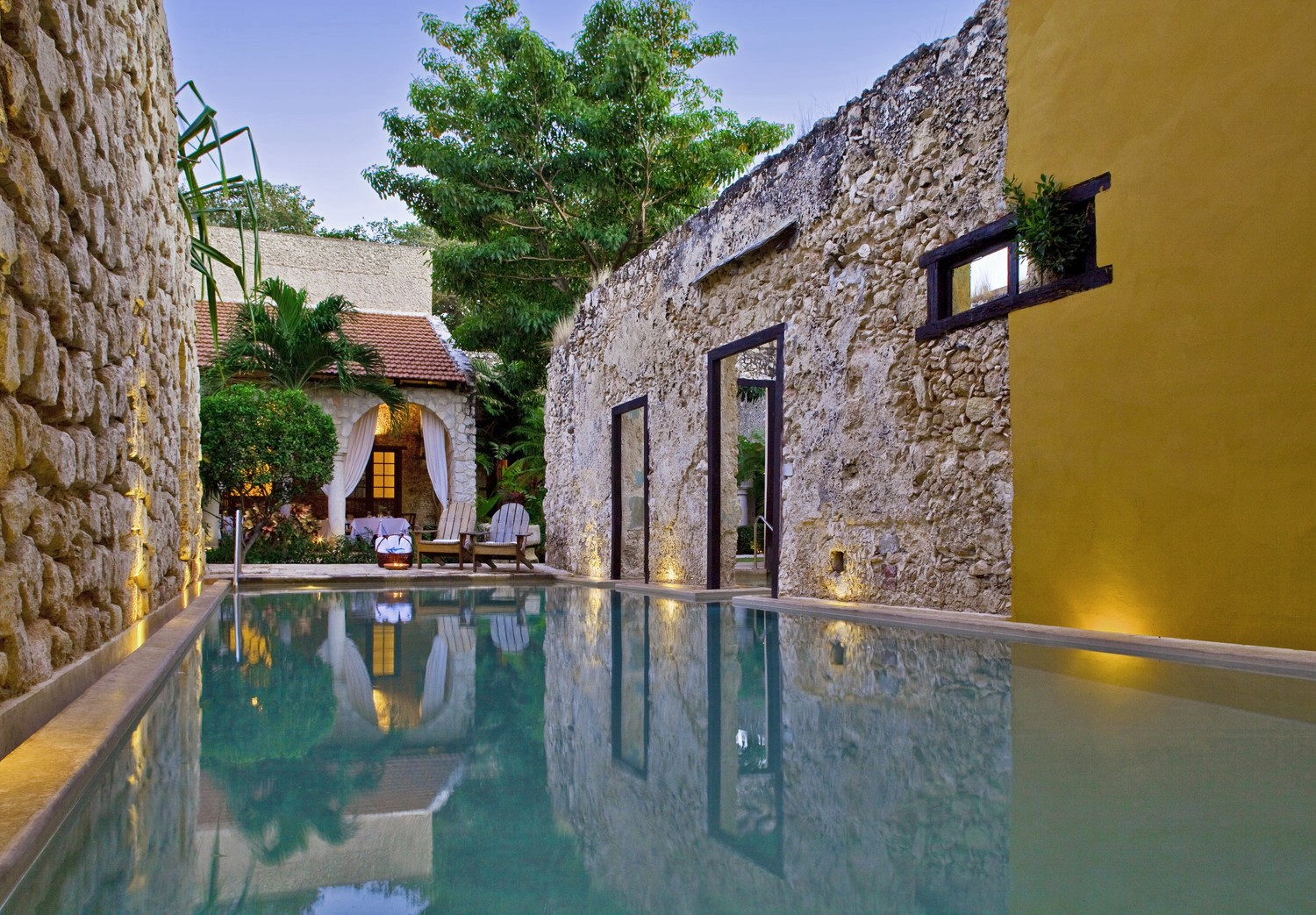 Pool at Hotel Puerta Campeche