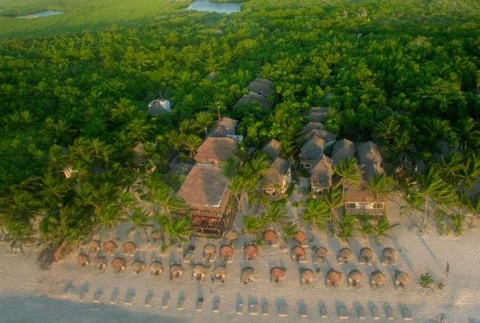Aerial view of Hotel Rosa Del Viento