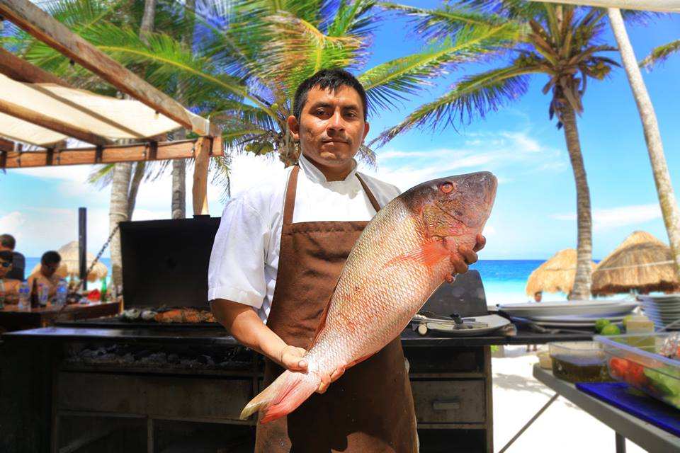 BBQ fish at Hotel Rosa Del Viento