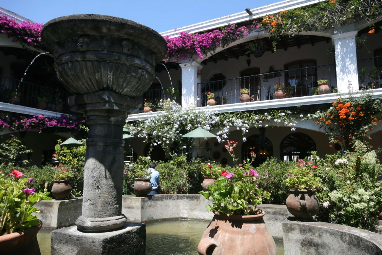 Courtyard at Hotel Santo Tomas in Chichicastenango