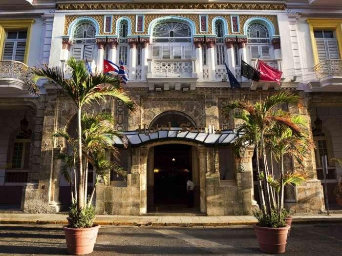 Main entrance to the Hotel Sevilla in Havana, Cuba