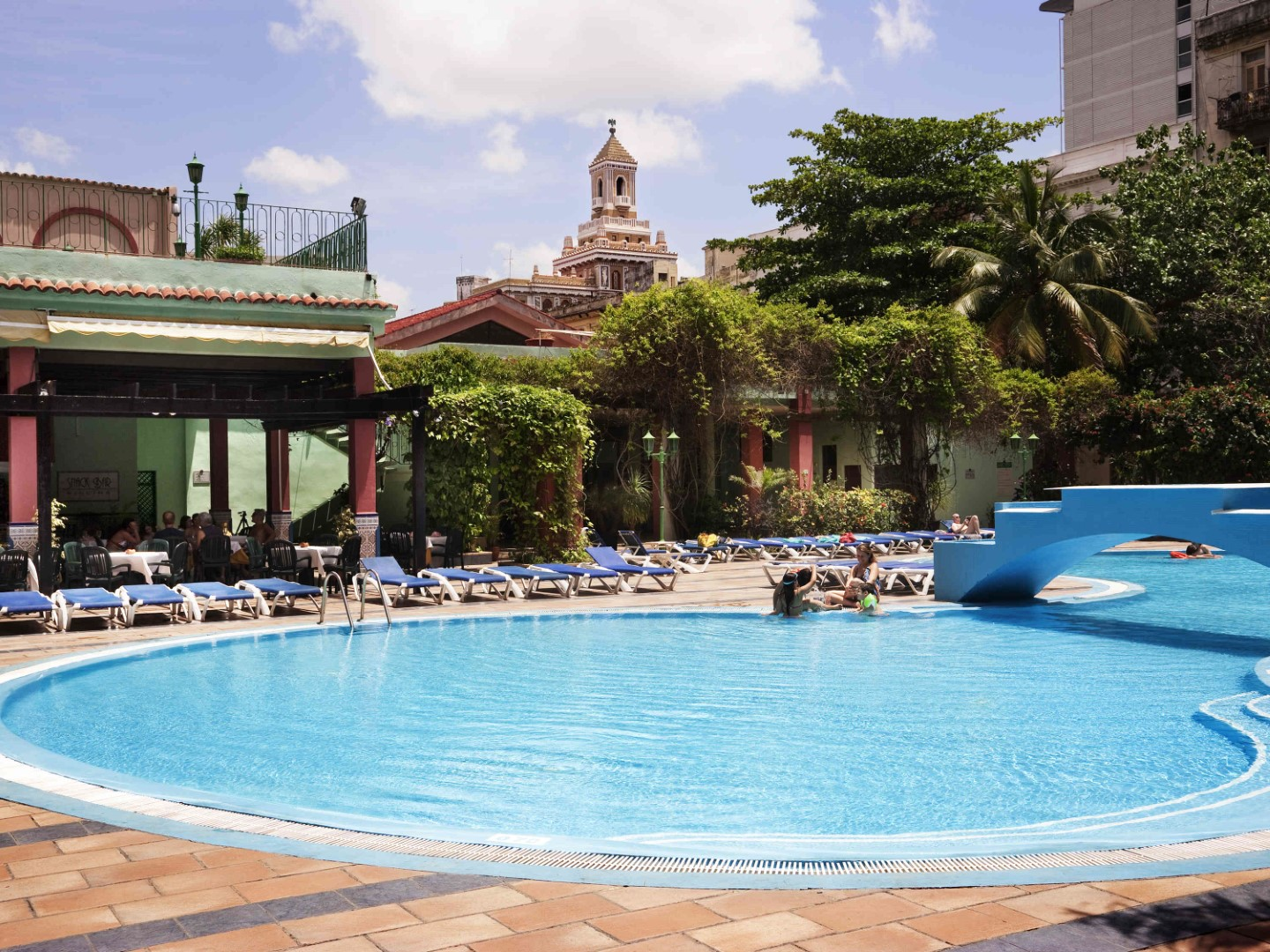 Pool at Hotel Sevilla in Havana, Cuba