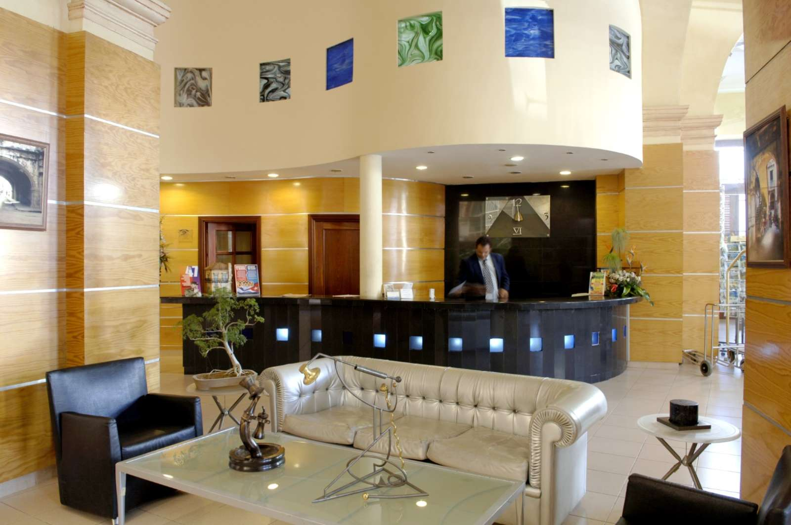 Reception of the Hotel Telegrafo in Havana, Cuba