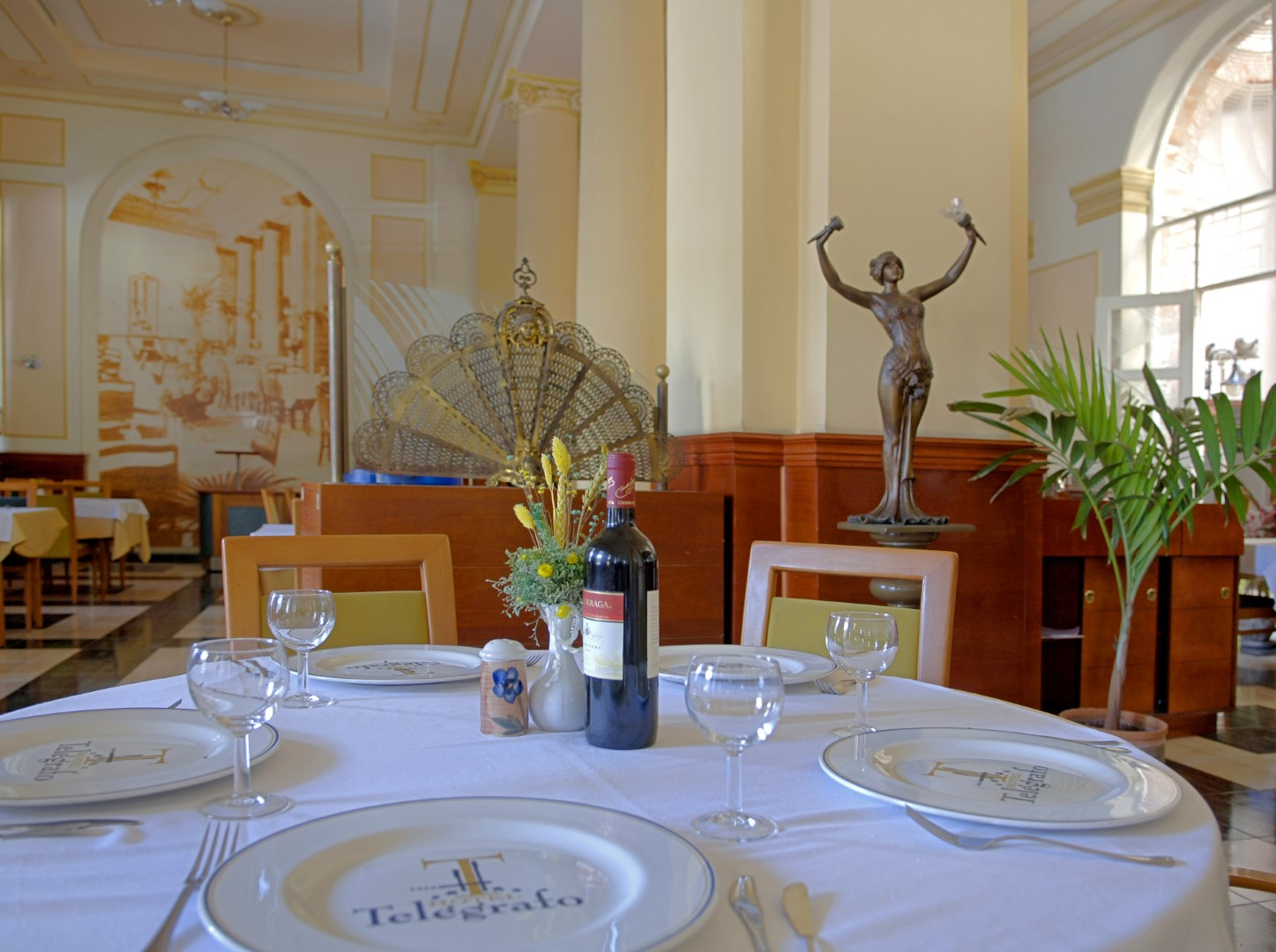 Restaurant of the Hotel Telegrafo in Havana, Cuba
