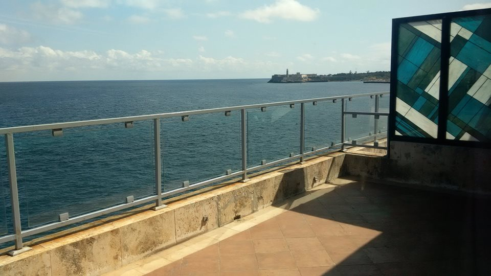 Balcony with seaview at the Hotel Terral in Havana