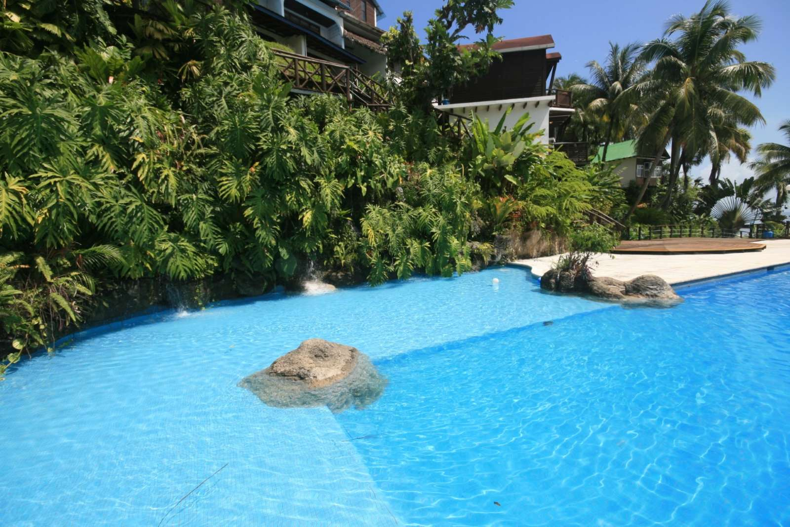 Swimming pool at Villa Caribe in Livingston, Guatemala