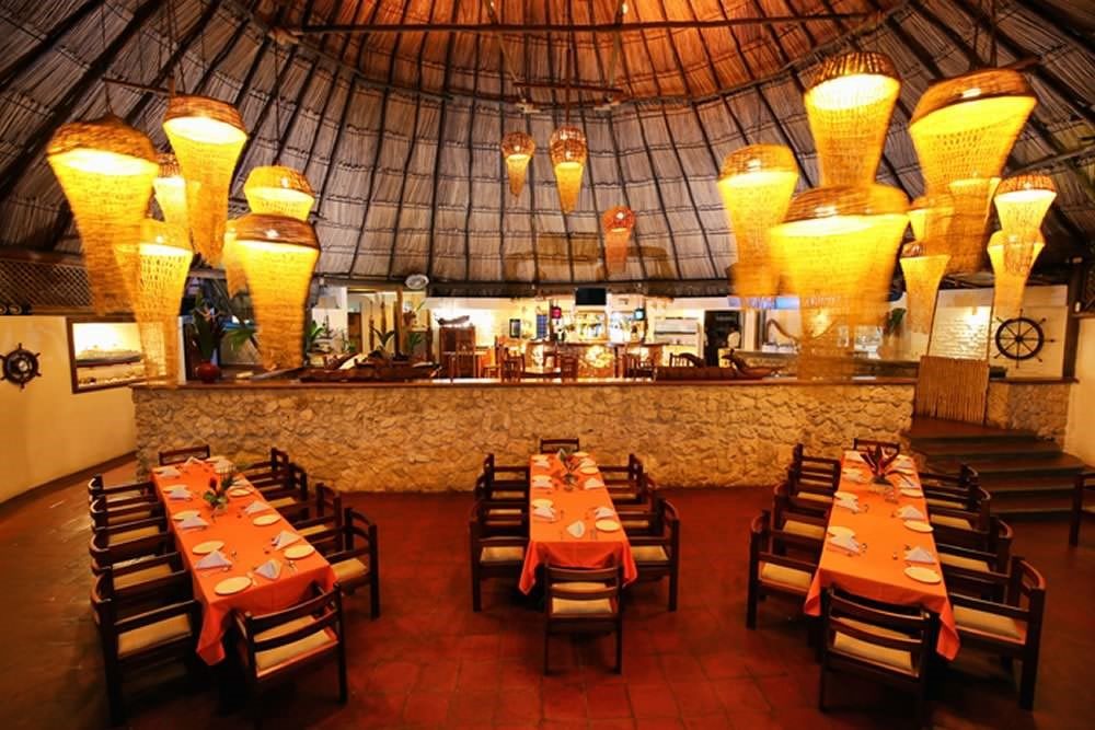Restaurant at Villa Caribe in Livingston, Guatemala