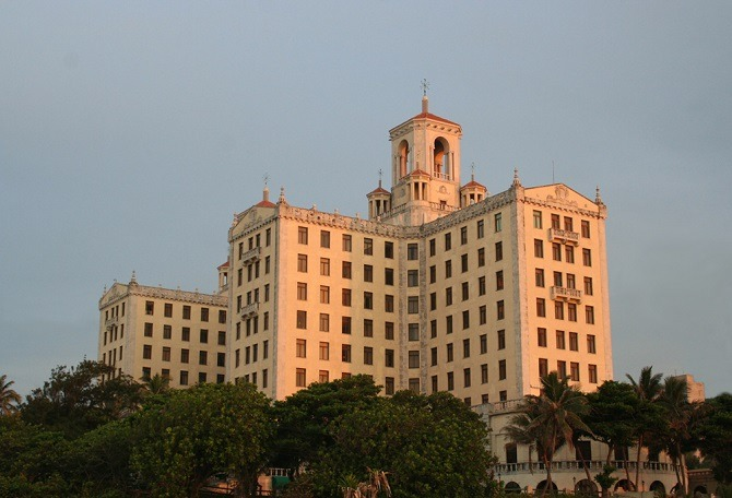 The Hotel Nacional is the most famous hotel on Havana's Malecon