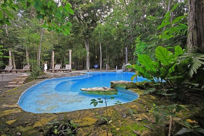 Swimming pool at Hotel Puerta Calakmul