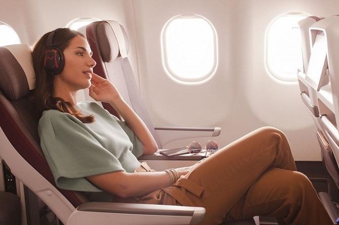 Iberia Premium Economy passenger