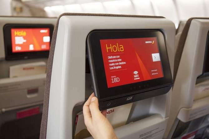 Seat back video on Iberia flight