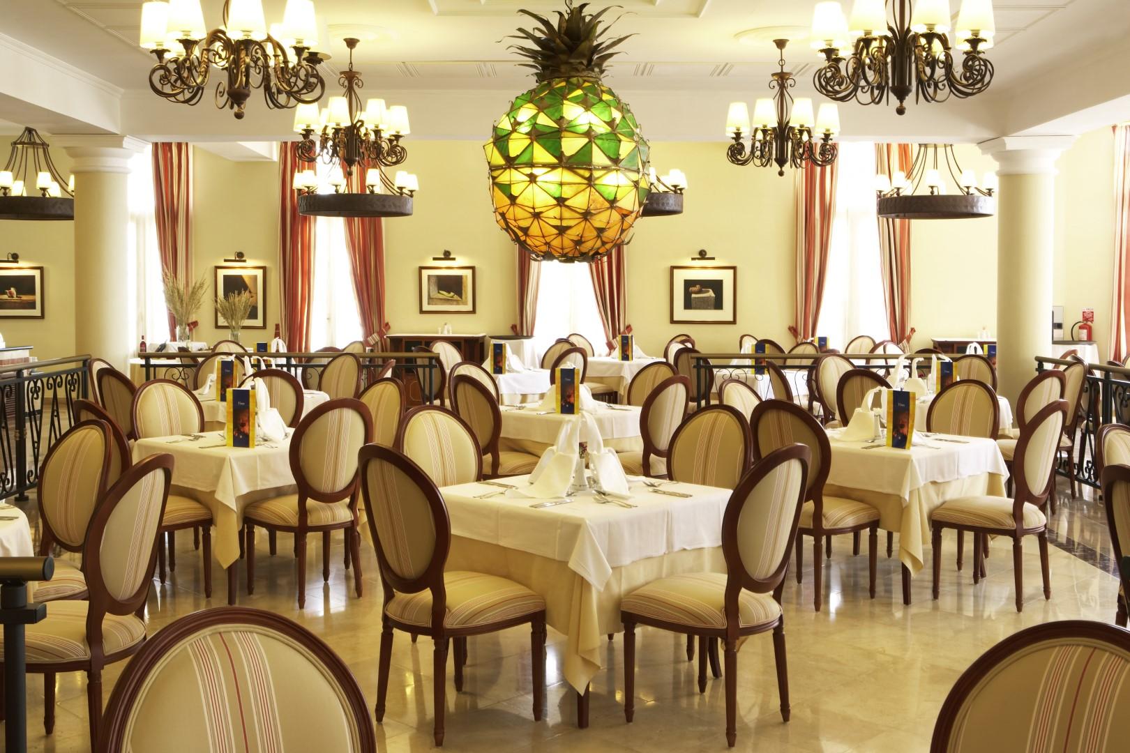 The restaurant at the Iberostar Grand in Trinidad, Cuba