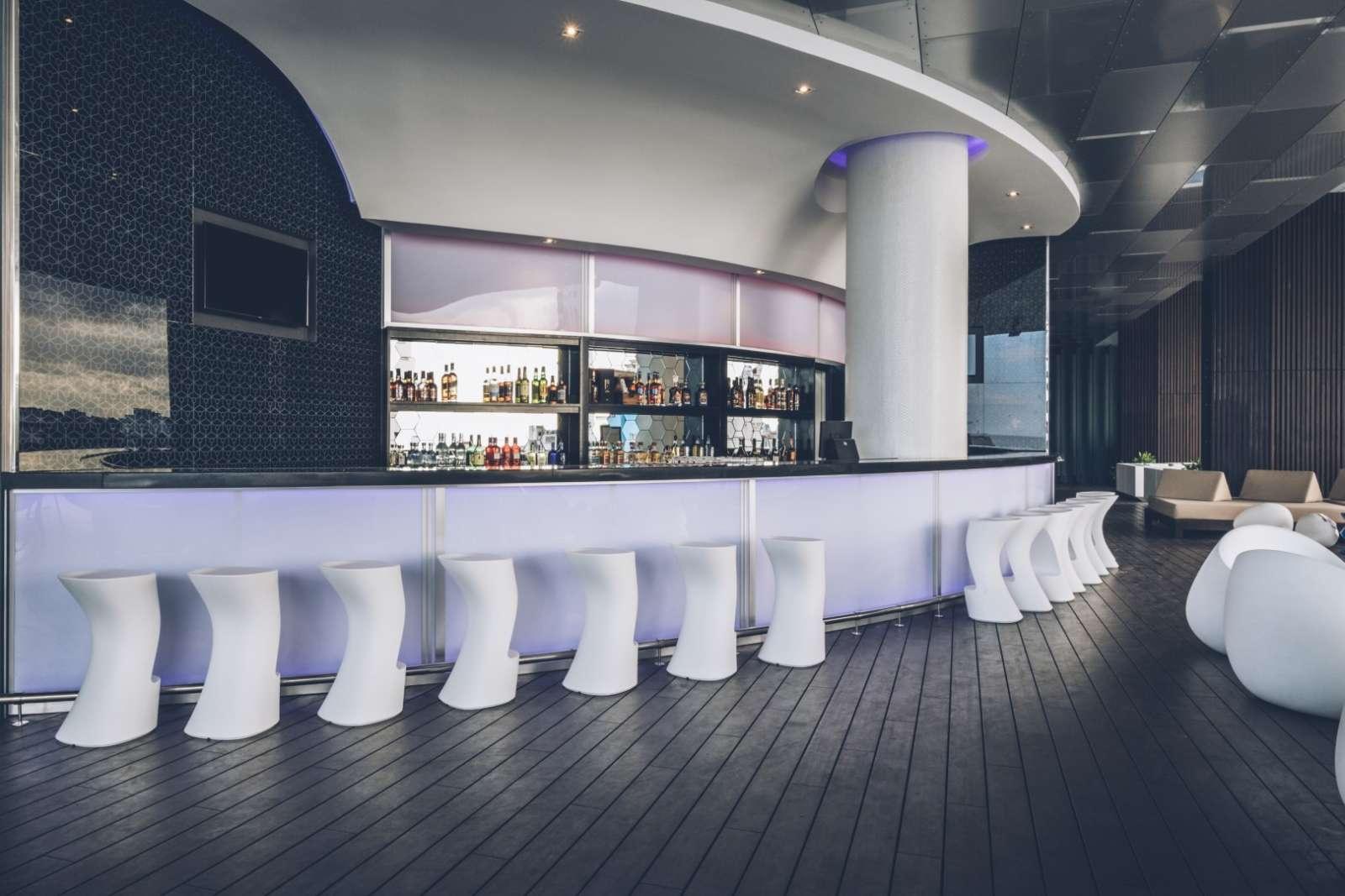 Pool bar seating at the Iberostar Packard hotel in Havana, Cuba