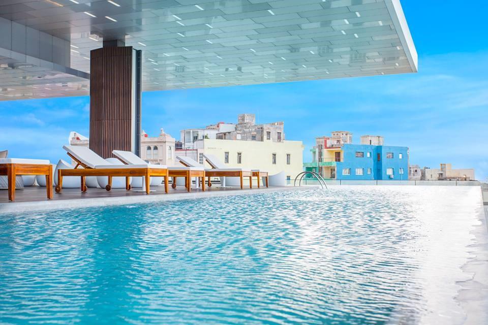 Infinity pool of the Iberostar Packard hotel in Havana, Cuba