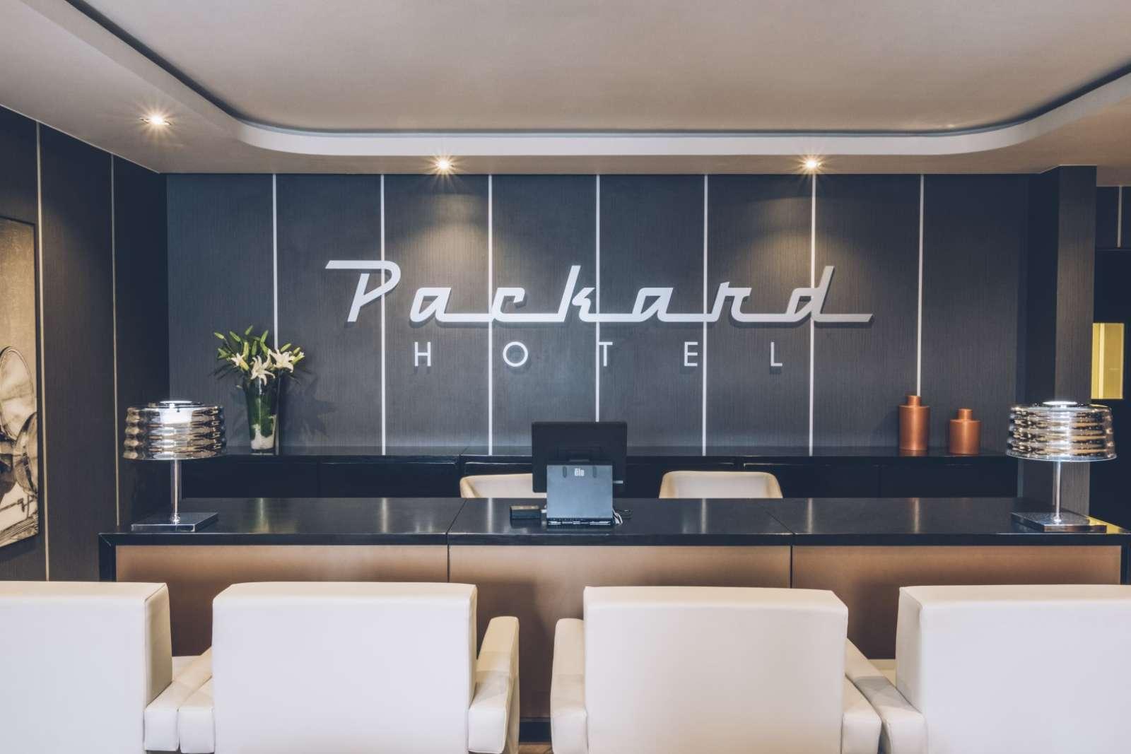 Reception at the Iberostar Packard hotel in Havana, Cuba