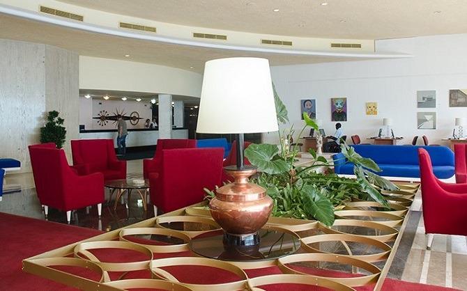 Lobby at the Iberostar Havana Riviera hotel