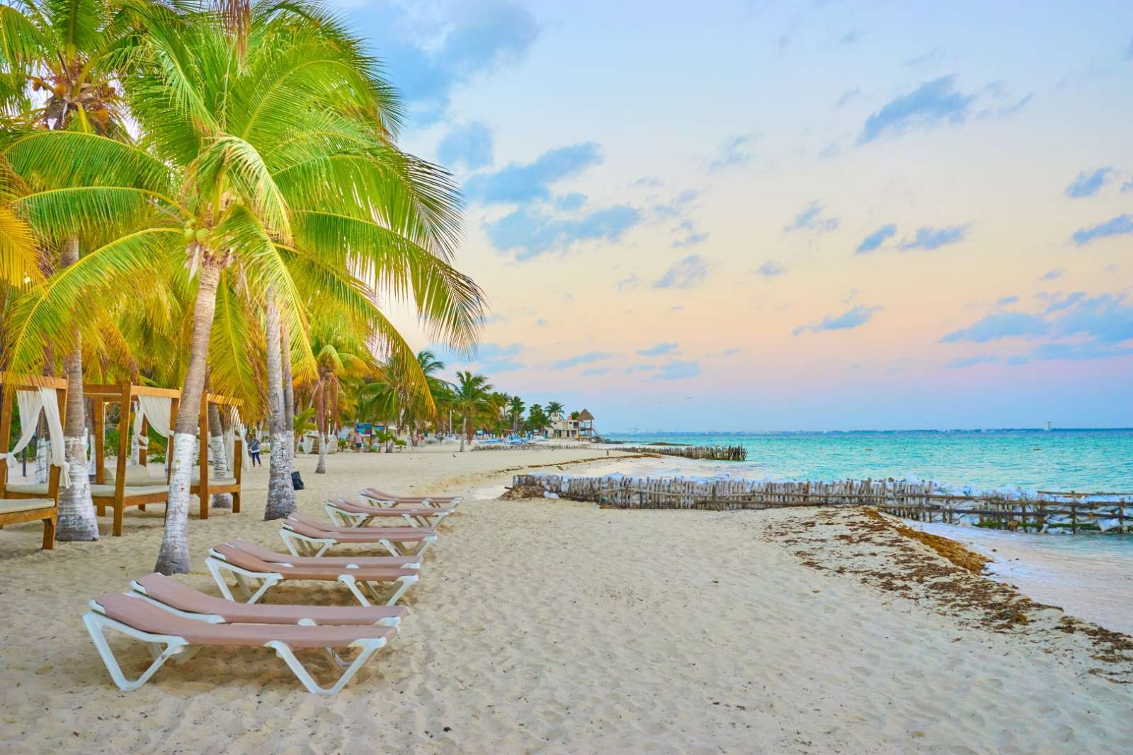 Beautiful beach on Isla Mujeres Mexico