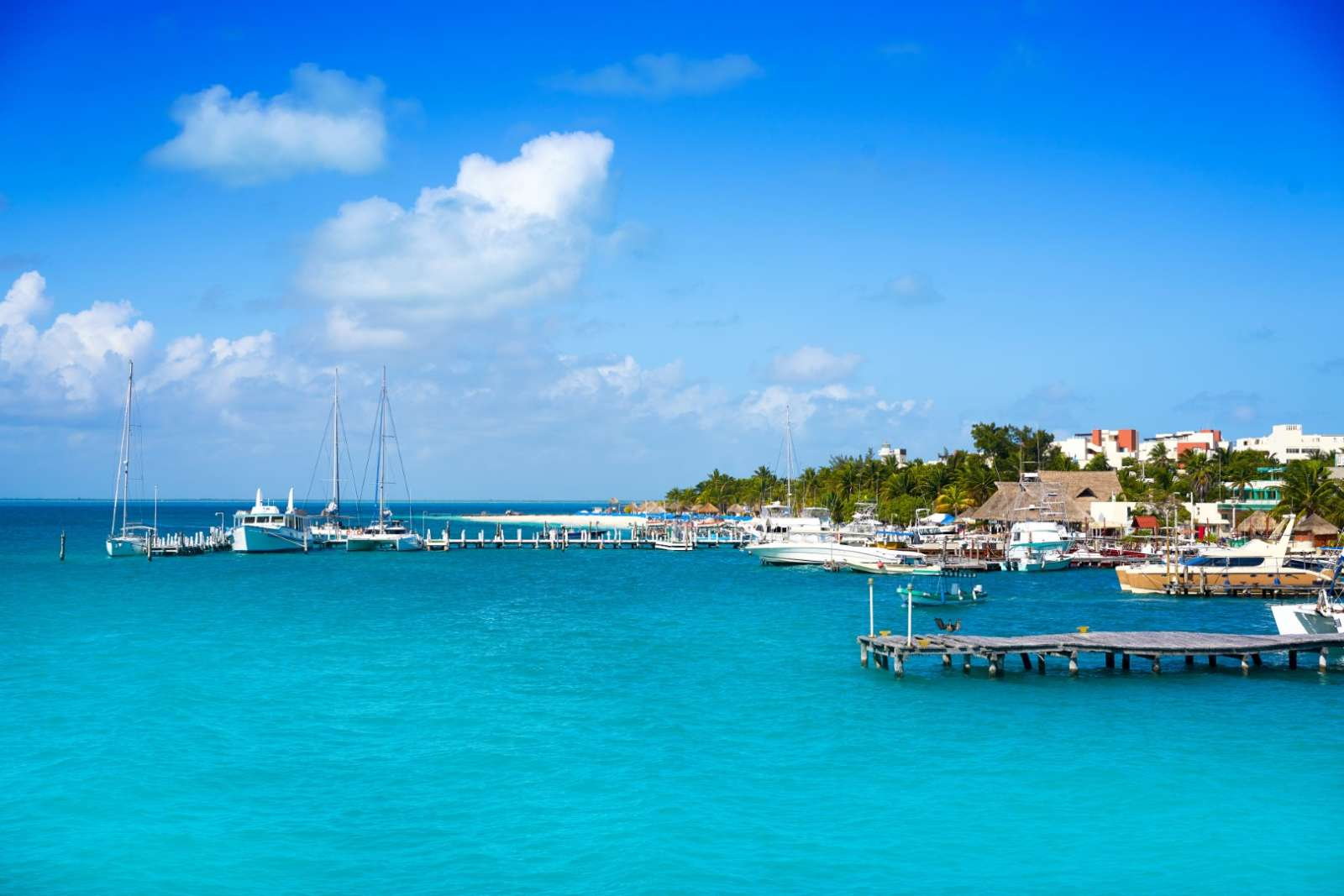 Harbour entrance at Isla Mujeres Mexico