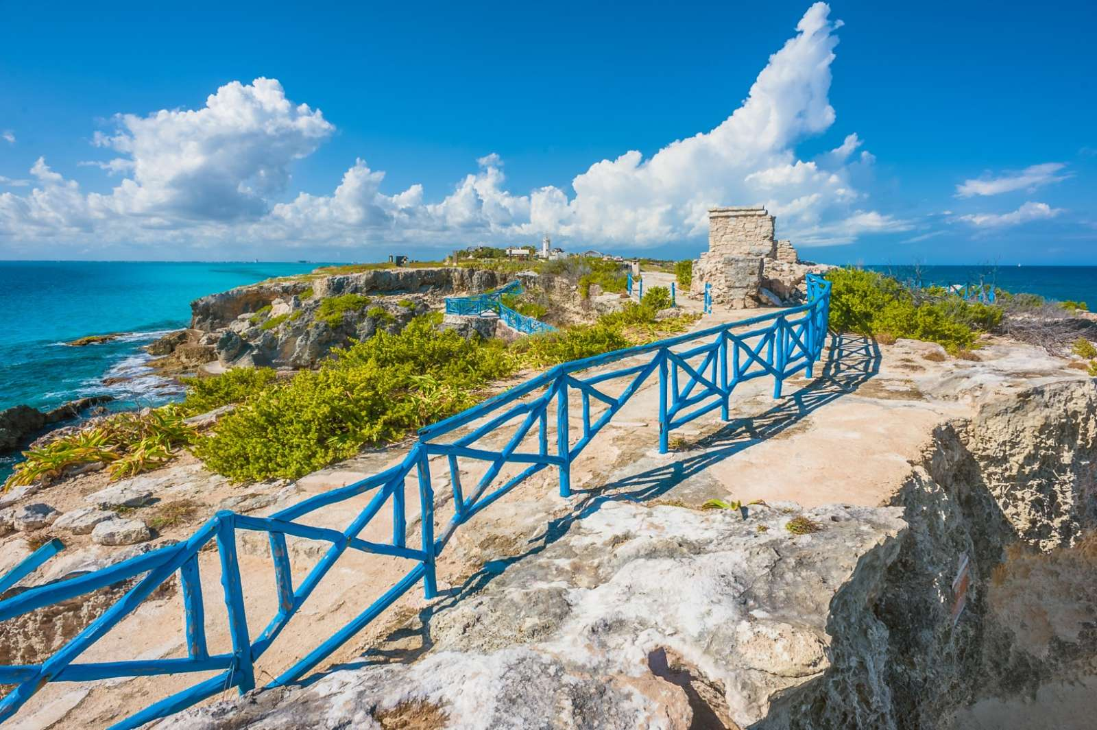 Southern tip of Isla Mujeres Mexico