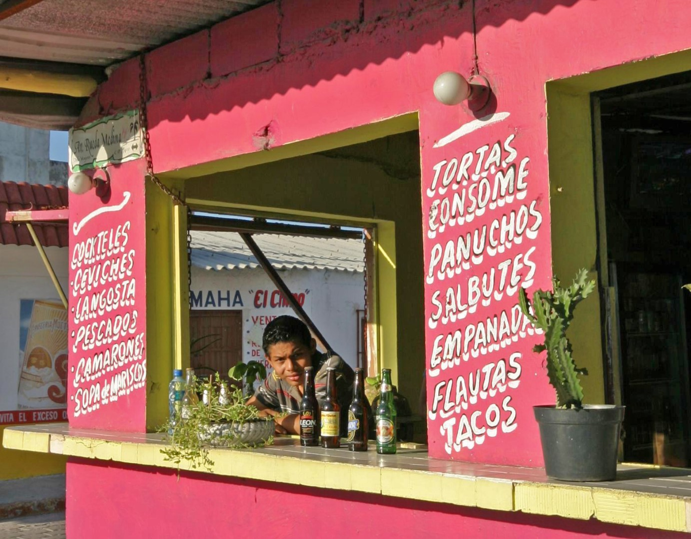 Food kiosk on Isla Mujeres, Mexico