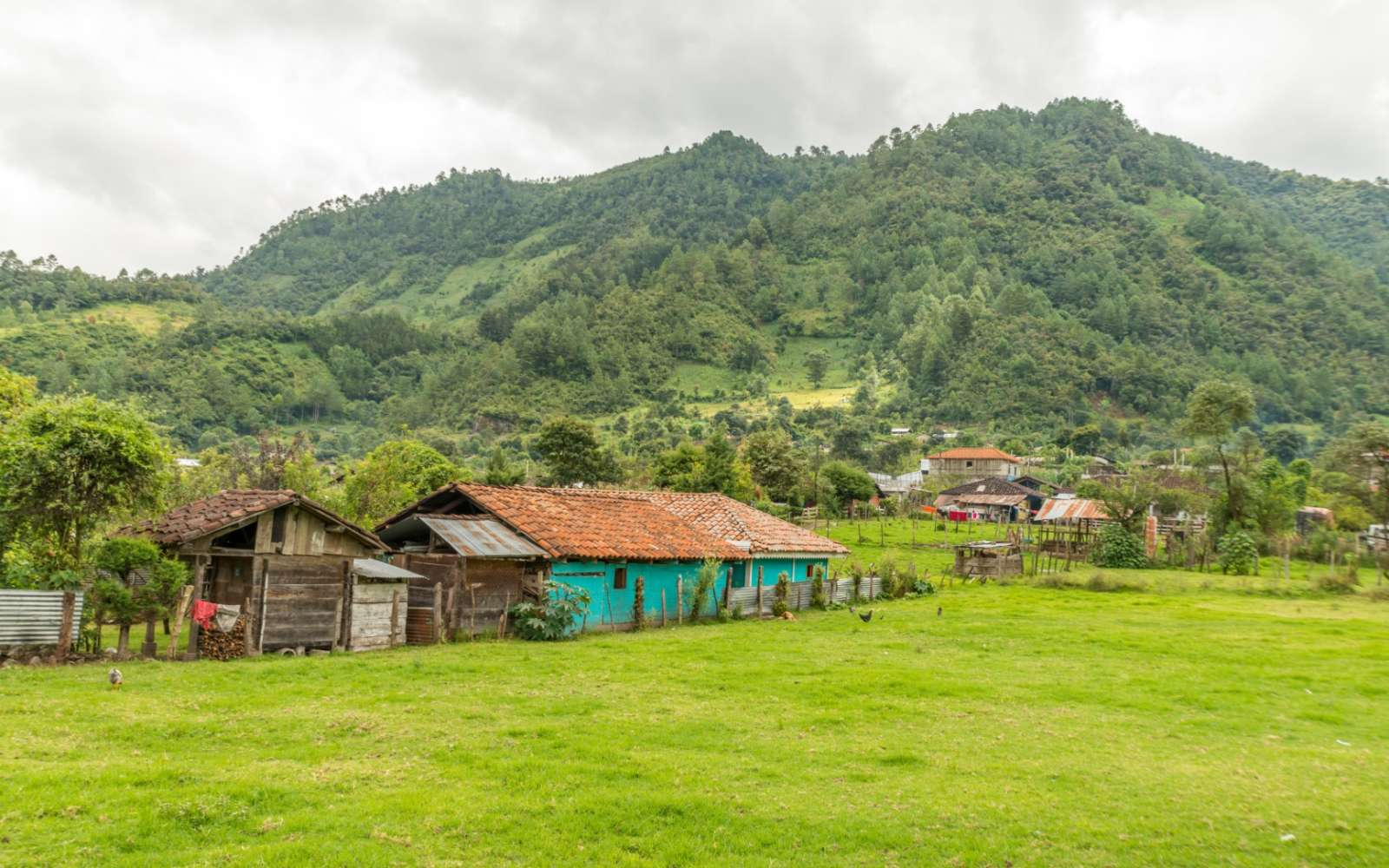Farm building in Nebaj within the Ixil Triangle of Guatemala