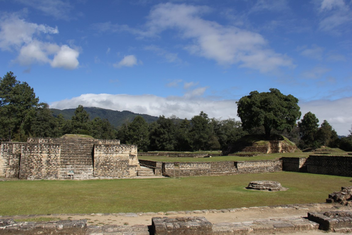 The deserted Mayan ruins of Iximche in Guatemala