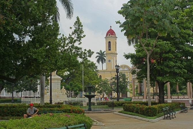 Parque Jose Marti in the centre of Cienfuegos, Cuba