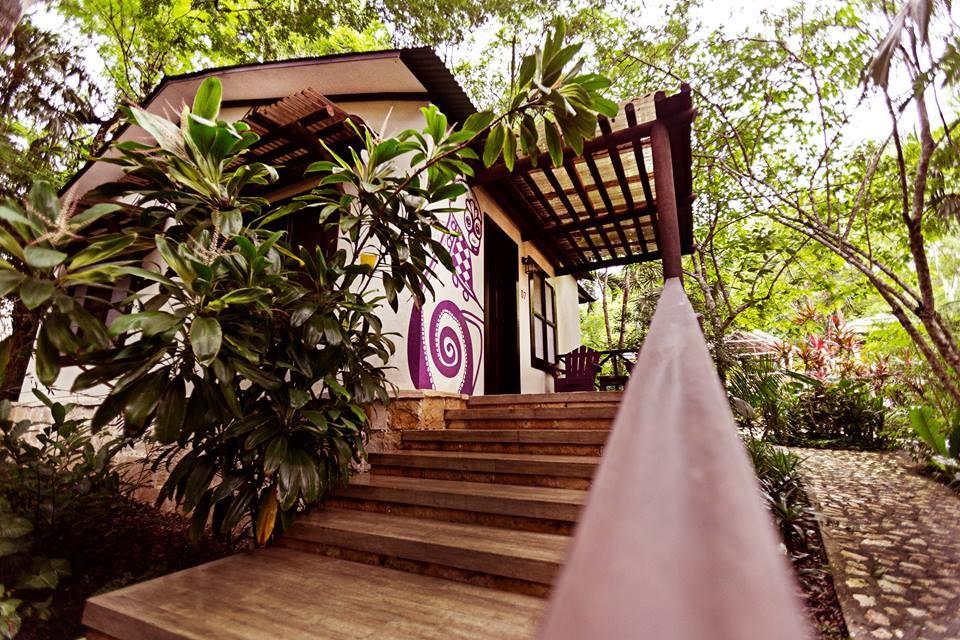 Exterior of bungalow at Jungle Lodge Tikal