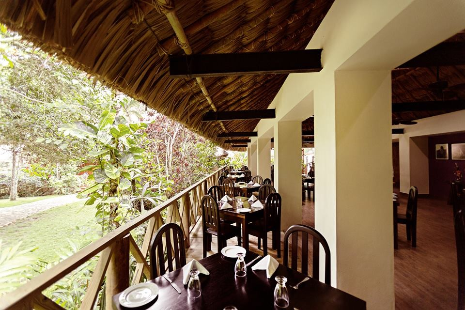Restaurant terrace at Jungle Lodge Tikal