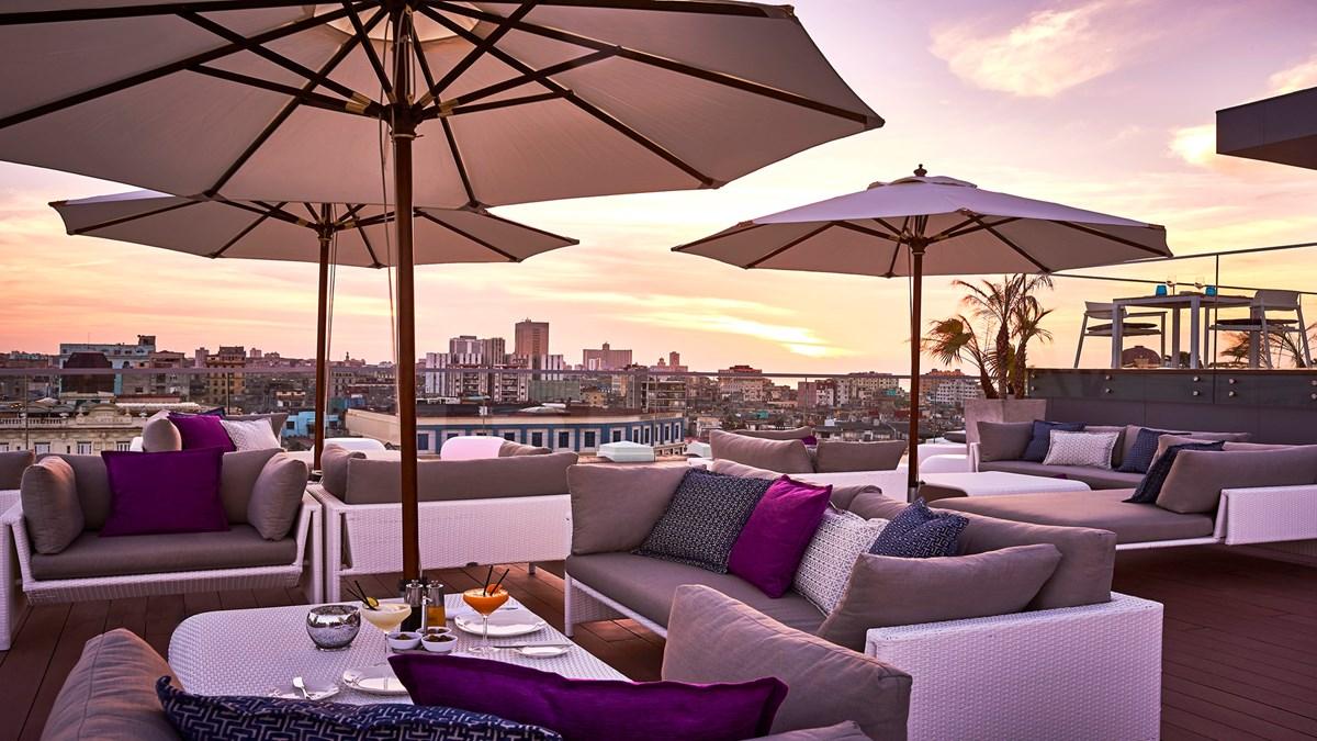 Rooftop terrace at the Kempinski Havana hotel in Cuba