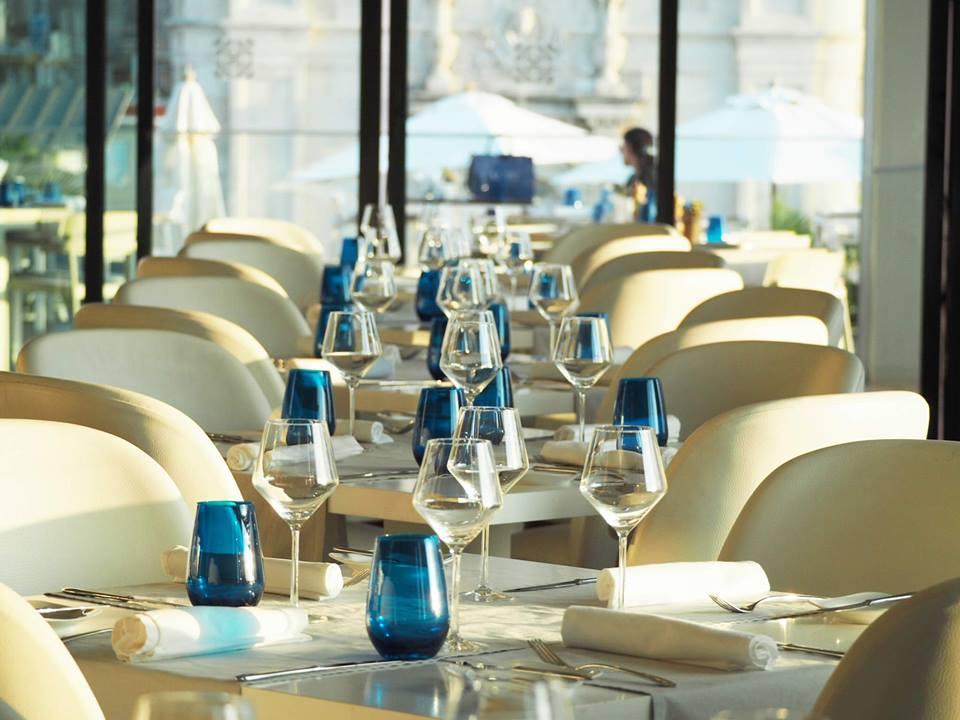 Restaurant table setting at the Kempinski Havana hotel in Cuba