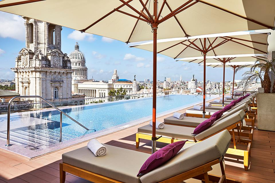 Rooftop pool at the Kempinski Havana hotel in Cuba