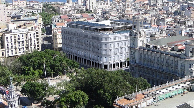An aerial view of the Kempinski La Habana