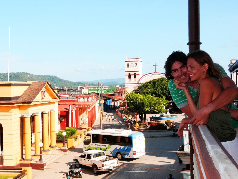 Overlooking Baracoa street from the balcony of La Habanera hotel
