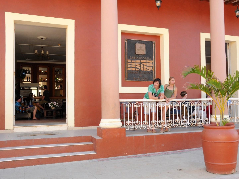 Front terrace at La Habanera hotel