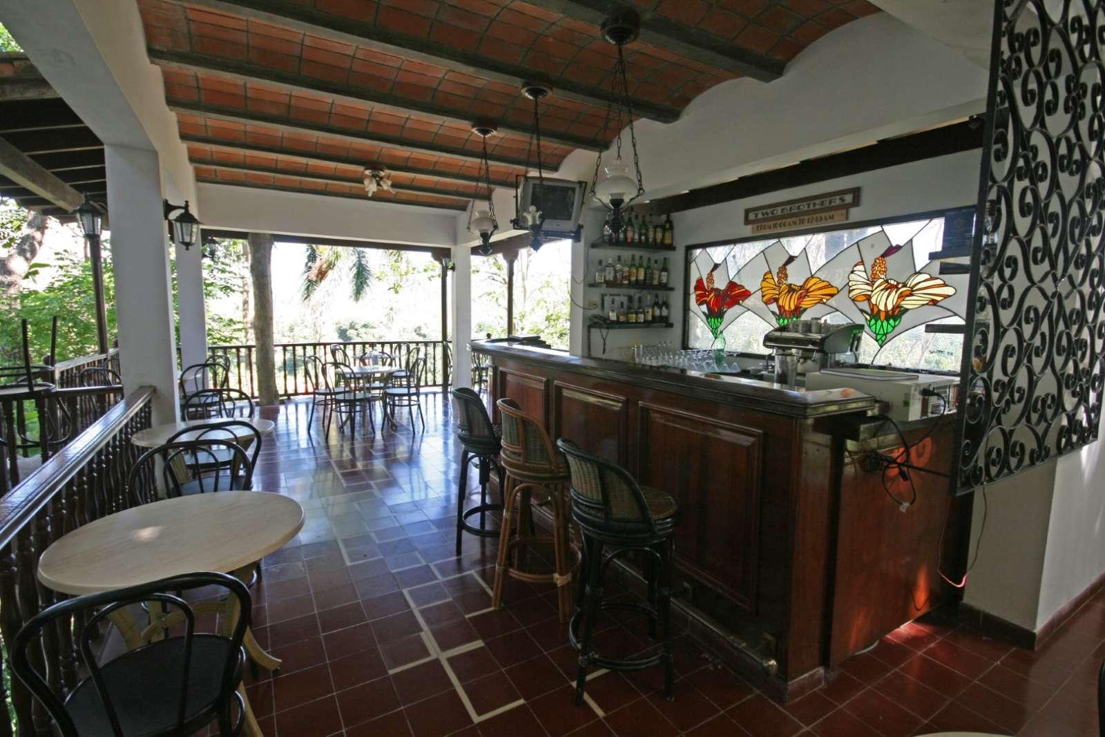 Bar at La Moka hotel in Las Terrazas, Cuba