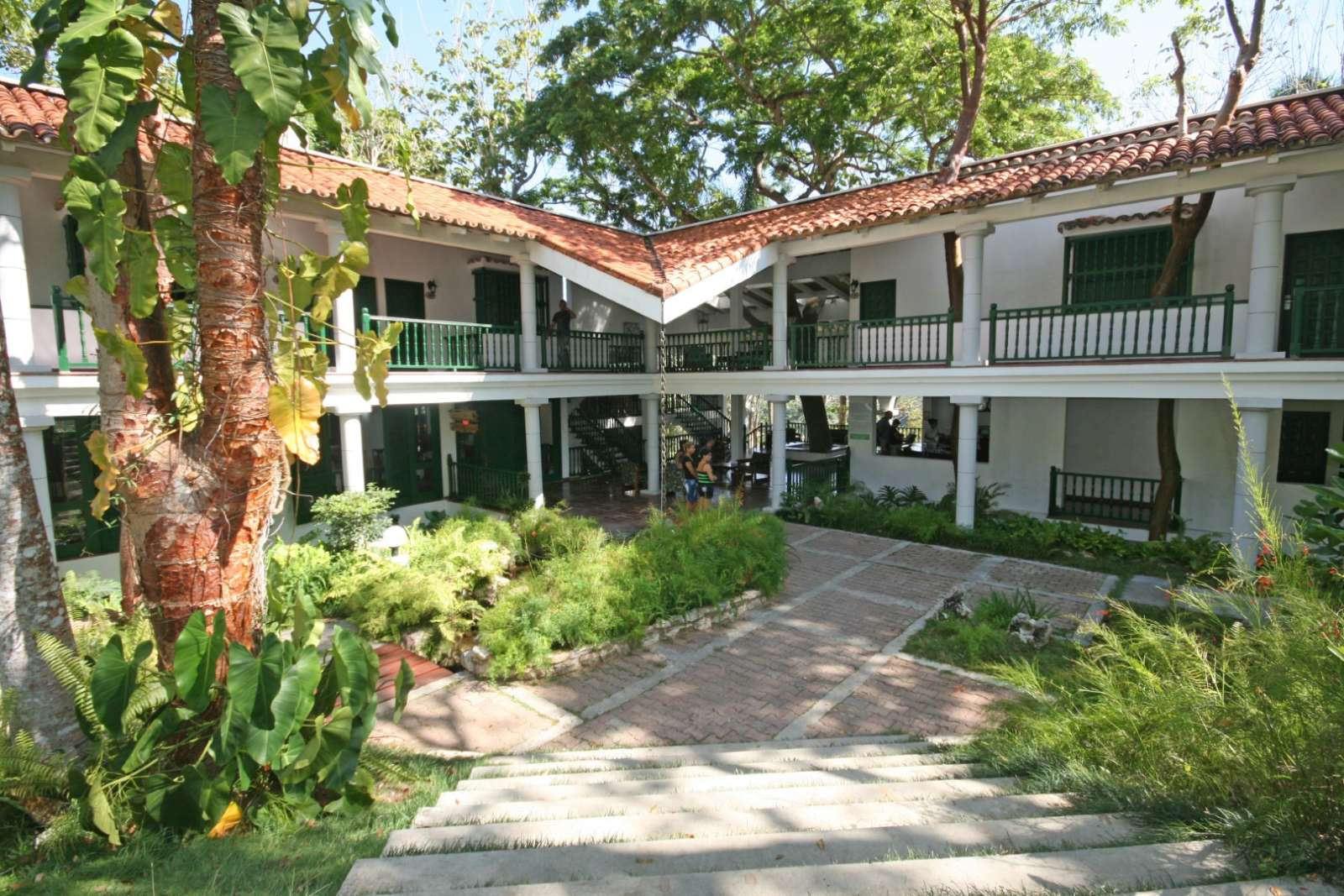 Entrance to La Moka hotel in Las Terrazas, Cuba