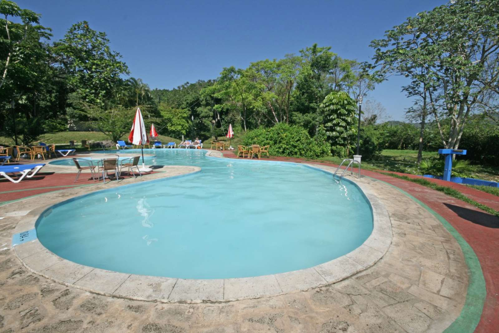 Swimming pool at La Moka hotel in Las Terrazas, Cuba