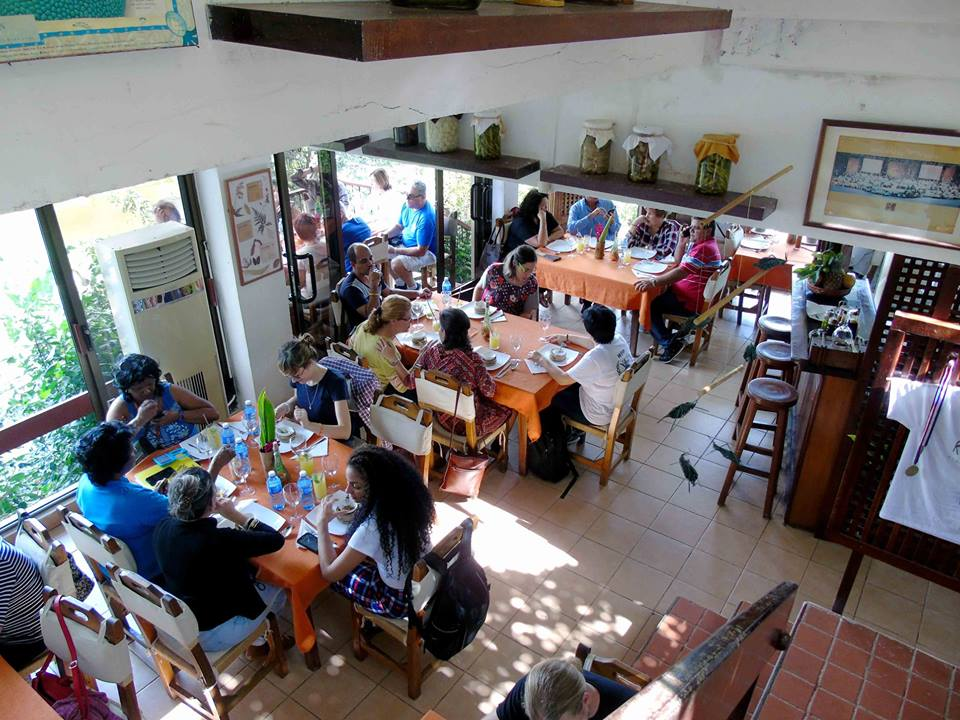 Restaurant at La Moka hotel in Las Terrazas, Cuba